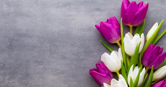 Bouquet de fleurs, deuil