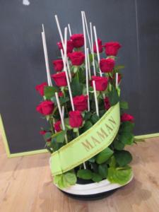 Composition florale deuil